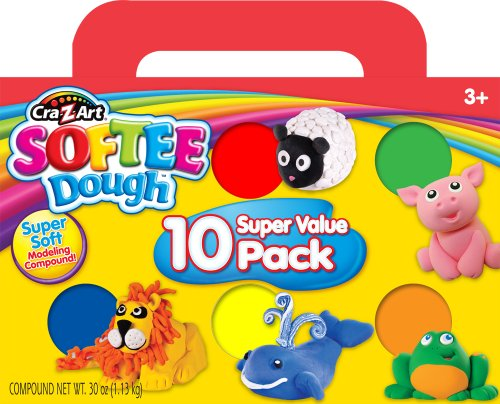 Cra-Z-Art Softee Dough, 10 Pack (13565) - 1