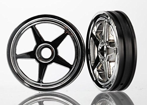 Traxxas 6974 Wheels 5-Spoke Chrome Front, Funny Car, 2-Piece - 1