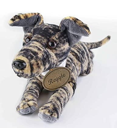 Greyhound Lurcher Soft Toy - Reggie Retired Greyhound - Brindle