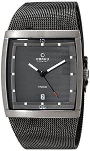 Obaku Men's Quartz Titanium and Stainless Steel Dress Watch, Color:Grey (Model: V102GDTJMJ)