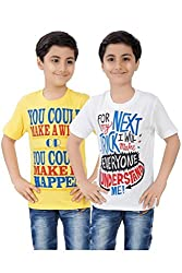 Mint Pack Of 2 Various colours Cotton Boy's T-Shirt Combo