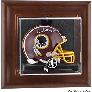 NFL Wall Mounted Logo Mini Helmet Case NFL Team: Washington Redskins by Mounted Memories