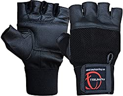 Triumph Power Leather Gym Gloves Black