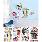 (10x18) Teen Beach Movie Peel and Stick Wall Decals