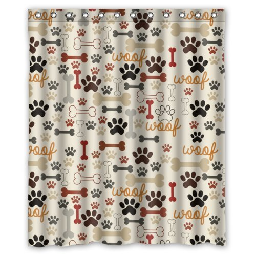 Paws and Woofs Shower Curtain