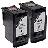 Canon PG540XL & CL541XL Ink Cartridges - Black & Colour - Remanufactured For Canon Pixma MG2100 MG2150 MG2250 MG3100 MG3150 MG3155 Printers by Carooble