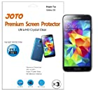 JOTO - Samsung Galaxy S5 Premium Screen Protector Film Ultra Crystal Clear (Invisible) with Lifetime Replacement Warranty, ATT, Verizon, Sprint, T-Mobile (3 Pack)