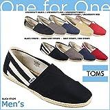 (トムズ シューズ)TOMS SHOES スリッポン UNIVERSITY MEN'S CLASSICS ユニバーシティ クラシック 001019A 100054 M8.5(約26.5cm) Black Stripe (並行輸入品) [並行輸入品]