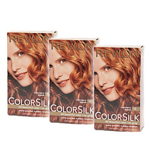 Revlon ColorSilk Haircolor #72 Strawberry Blonde 3-PACK