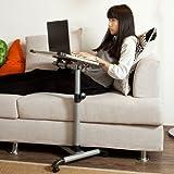 FBT07N-W Universal Adjustable Side Table with Lockable Wheels