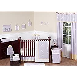 Sweet Jojo Designs Dragonfly Dreams Lavender Baby Girl Purple Bedding 11pc Crib Set without bumper