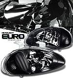 Euro Headlights Black 93-97 Honda Del Sol