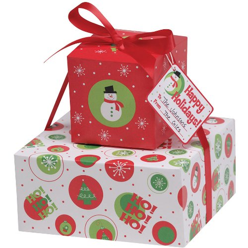 Stackable Christmas Cookie Boxes (2 per package)