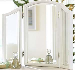 Bathroom Counter Trifold Vanity Table Mirror