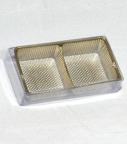 OREO Cookie 2 Piece Clear Favor Boxes with Gold Tray Insert (for Chocolate Molded Oreo Cookies) for Weddings, Showers, Birthday Parties, and Special Events (24) (24) (Chocolate Packaging Tray compare prices)