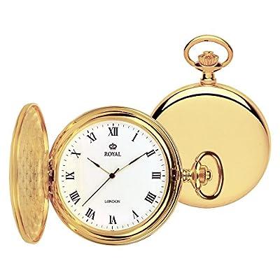 Royal London Pocket Watch 90021-02 Gold Plated Full Hunter
