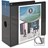 Business Source 5-Inch Slant Ring View Binder - Black