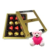 Well Decorated Chocolates Gift Box With Teddy - Chocholik Luxury Chocolates