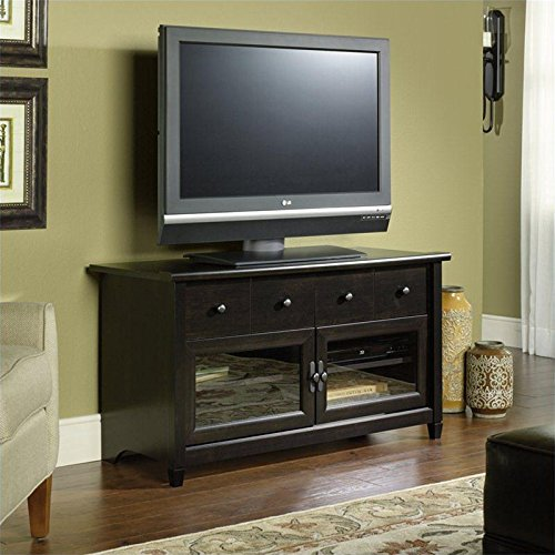 Sauder Edge Water Panel TV Stand, Estate Black Finish photo