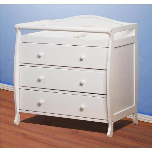 Baby Mile Eve 3-Drawer Changer - White front-186515