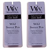 Twin Pack (2 x 4 Pack) Woodwick Home fragrance Wax Melts - Wild Sweet Pea