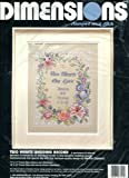 Two Hearts Wedding Record Stamped Cross Stitch Kit: 11x14