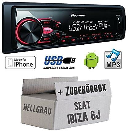 Seat ibiza 6J clair-pioneer mVH - 180UI mP3/uSB avec kit de montage