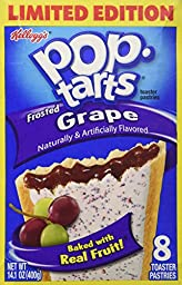 Kellogg\'s Frosted Grape Pop Tarts (Pack of 2-8 Count Boxes)