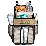 Diaper Caddy and Baby Scissors - 17x9x9 Inch Diapers Holder for Boys and Girls Made of 600D Water Resistant Polyester – Hanging Nursery Organizer Also Suitable for Your Changing Table