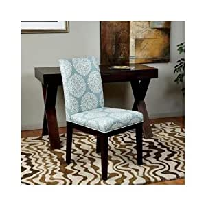amazon com modern medallion dining room chair blue white