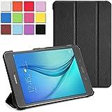 """WAWO Samsung Galaxy Tab A 9.7"""" Case - Classic PU Leather Creative tri-fold Cover for Samsung Galaxy Tab A 9.7-inch Tablet - Black"""