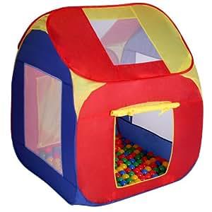 Tente de jeu pour enfants + 200 balles Ø 5,5 cm - POP-UP - 85 x 85 x 100 cm