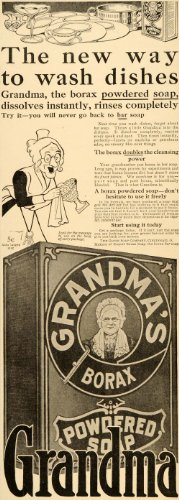 1910-ad-grandmas-borax-powdered-soap-dishes-wash-globe-original-print-ad