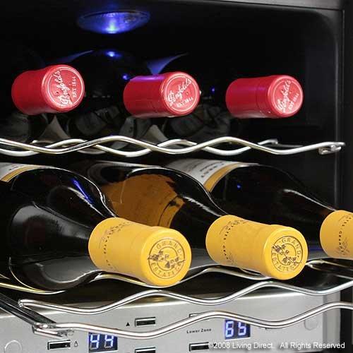 36 bottle dual zone french door wine built