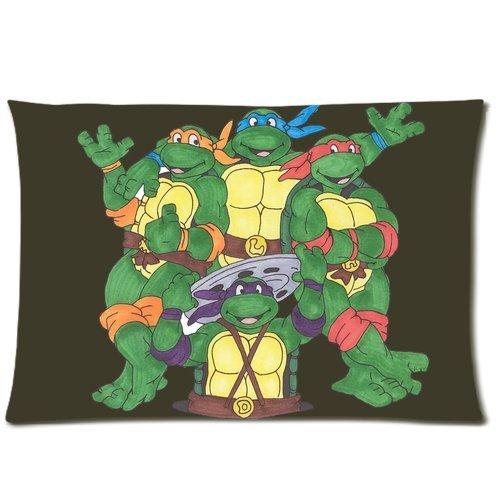 Generic Custom Cartoon Teenage Mutant Ninja Turtles Printed Zippered Pillowcase Cushion Cover 20*30(Twin Sides) front-986241