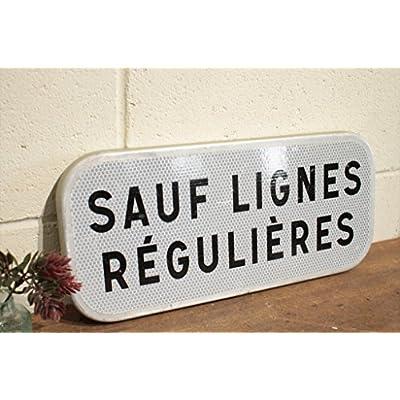 フランスアンティーク◇ブリキ製看板/標識サイン/英字壁掛け雑貨(a2400123-5)