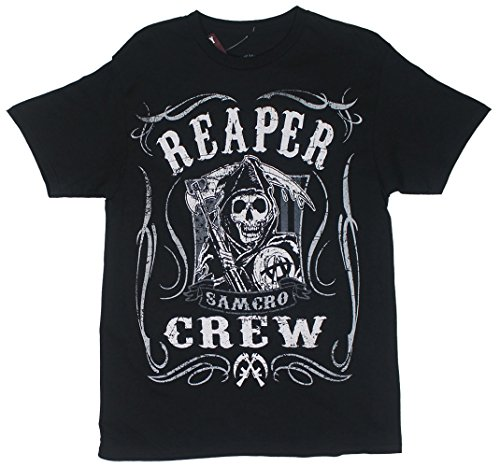 Sons Of Anarchy Reaper Crew Scroll Samcro Adult T-Shirt 2XL