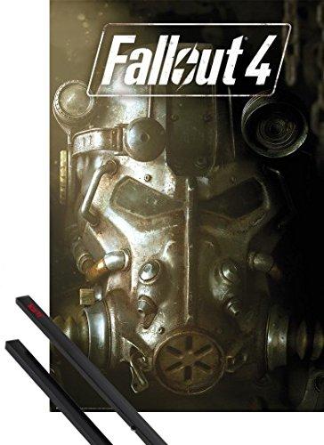 Poster + Sospensione : Fallout Poster Stampa (91x61 cm) 4, Copertina E Coppia Di Barre Porta Poster Nere 1art1®