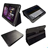 IGadgitz Black Genuine Leather Portfolio Case Cover for Samsung Galaxy Tab P7500 P7510 10.1 3G & WiFi Android 3.1 Honeycomb Internet Tablet