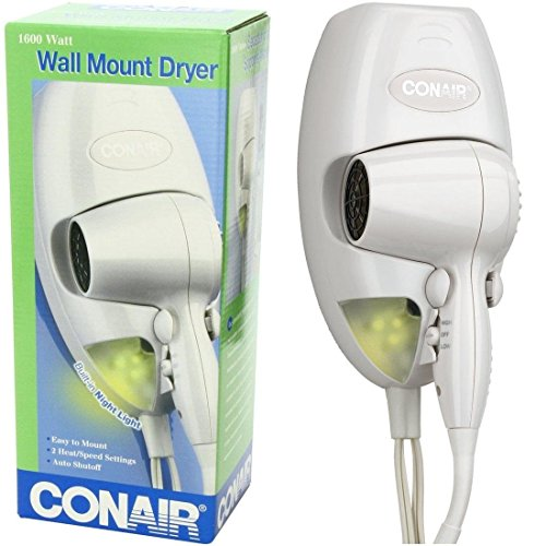 Finest Popular Hair Dryer with LED Nightlight Bedroom Light Bathroom Bright Hanging Lamp Color White (Hair Dryer Professional 6000 compare prices)