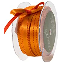 May Arts 3/8-Inch Wide Ribbon Red and Orange Satin
