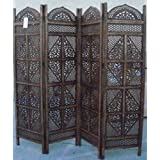 Benzara Wood 4 Panel Screen Ultimate in Screen Category