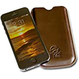 Kyasi Authentic TouchHide Tote-iPhone 5 Saddleback Brown