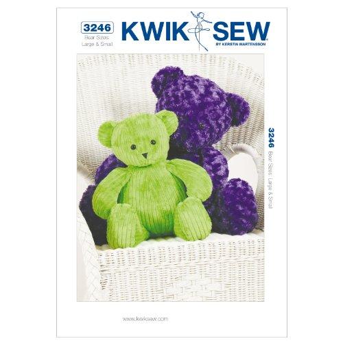 Kwik Sew K3246 Teddy Bears Sewing Pattern, Size