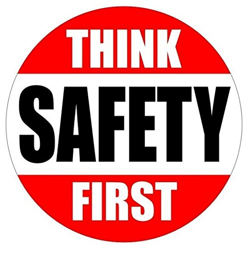 1 Pc Consummate Popular Think Safety First Car Sticker Factory Label Helmet Rescue Camper Shop Size 2