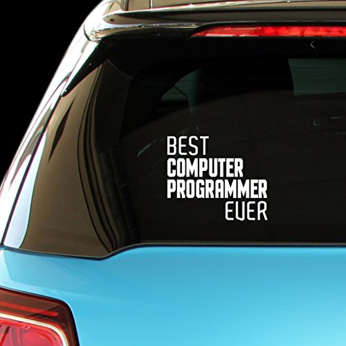 BEST COMPUTER PROGRAMMER EVER Car Laptop Wall Sticker