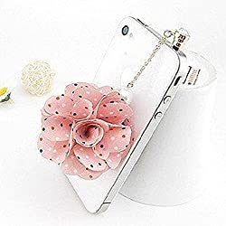 Sunday Gallery Earphone Jack Accessory Rose Dot Flower Chain Beads Crystal Pearls / Cell Phone Charms / Dust Plug / Ear Jack For iPhone 4 4S / iPad / Samsung Galaxy S3 S4 S5 / Other 3.5mm Ear Jack