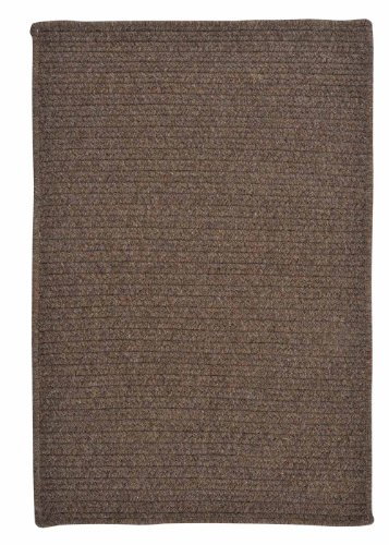 American Made Textured Rug 10-Feet by 10-Feet Square Bark Wool Carpet