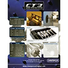 Champion CT3-1-1/4 Carbide Tipped 1-1/4-Inch Hole Cutter-1/8-Inch Sheet Metal