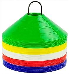 SAHNI SPORTS Plastic Space Marker, Set of 50, Multi-Color